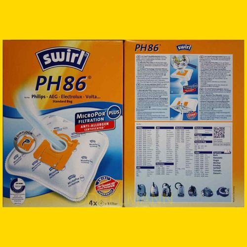 Swirl PH 86 MicroPor Staubsaugerbeutel PH86