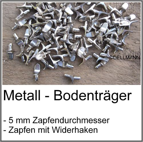 50 Metall-Bodentraeger Fachbodentraeger Regalbodentraeger - 5mm